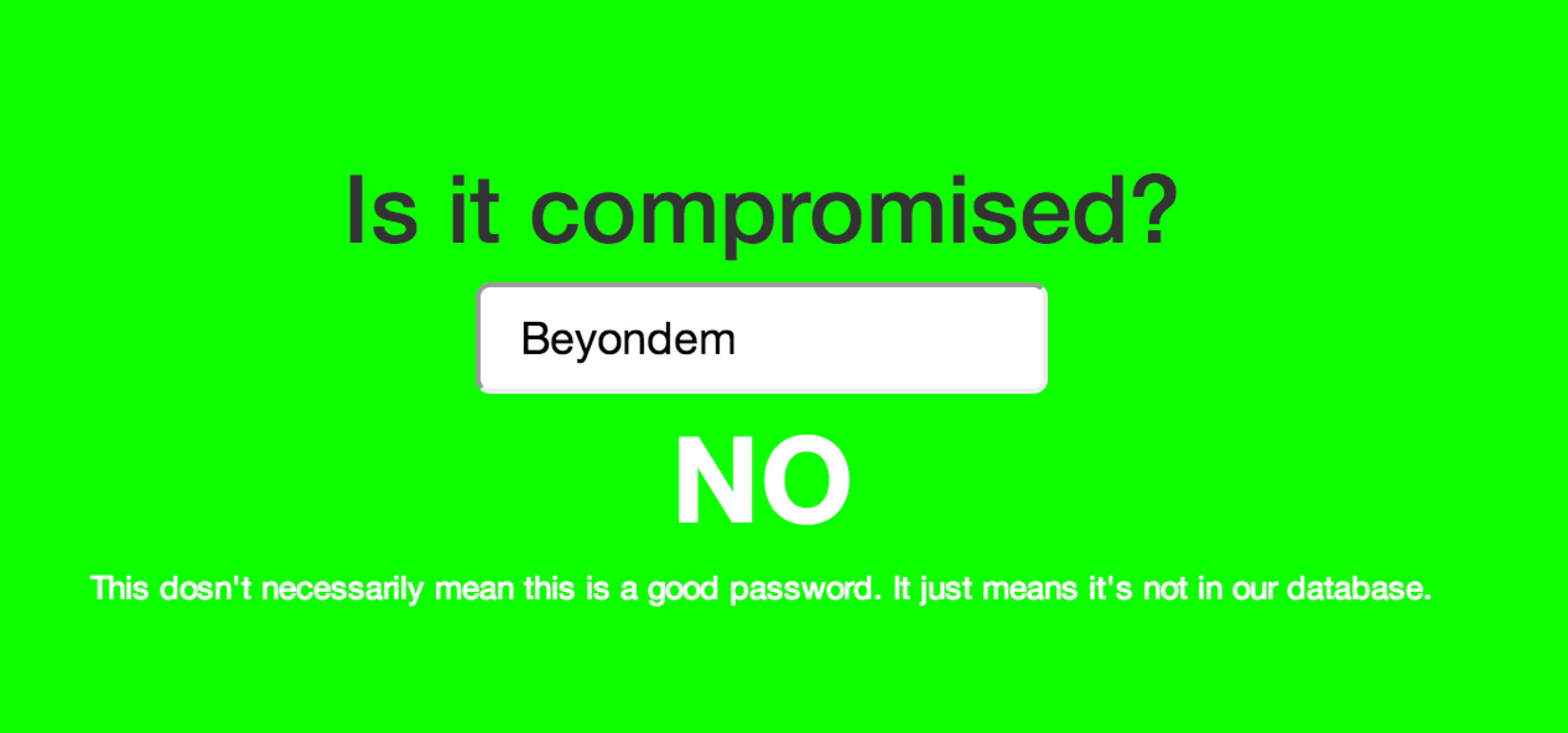 Is It Compromised – Instant Compromised Password Checker | Beyondem